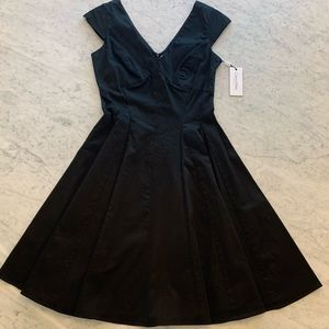 Calvin Klein Full Skirt Fit and Flare LBD Size 4